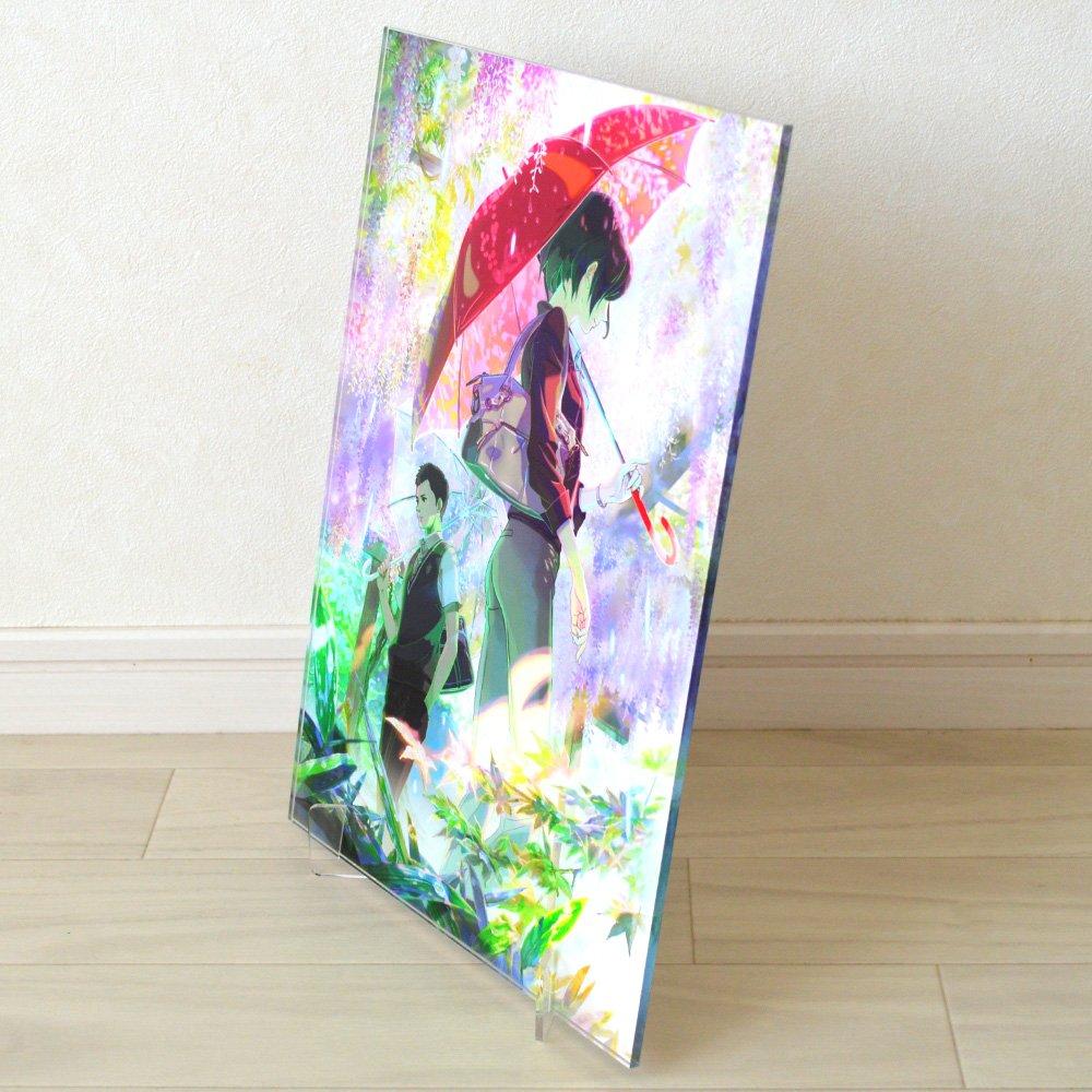 【好評発売中】言の葉の庭 キャラファインアクリル『藤棚』|CHARA-ART(キャラアート)
