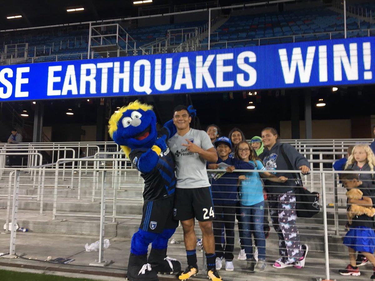 RT @QMascot: ⚽️ @SJEarthquakes Win!! ⚽️ 1-0 over the Houston Dynamo ⚽️#ForwardAsOne #Quakes74 ⚽️ https://t.co/8IZYwJFR0b