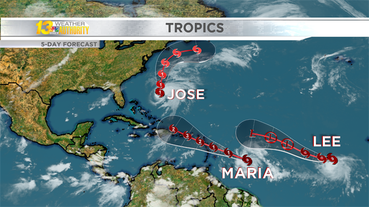 Three tropical systems are churning in the Atlantic this weekend