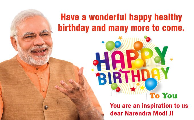 Wishing Prime Minister Shri Narendra Modi ji a very Happy Birthday. God bless you with good health