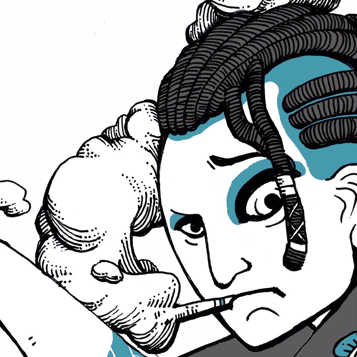 さぐ.  最近後ほど公開多くなってきた。これも後ほど公開👍 浮世絵×ギャングスタ。