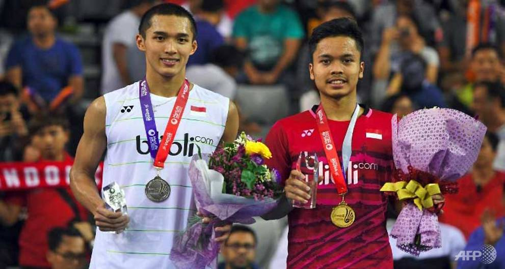 Ginting wins all-Indonesian men's final