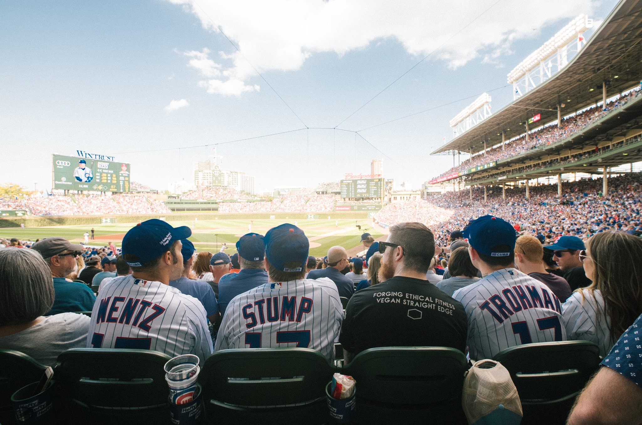 Take me out to the ballgame ⚾️  s/o to the @cubs, thanks for having us https://t.co/g1Bww0wOSF