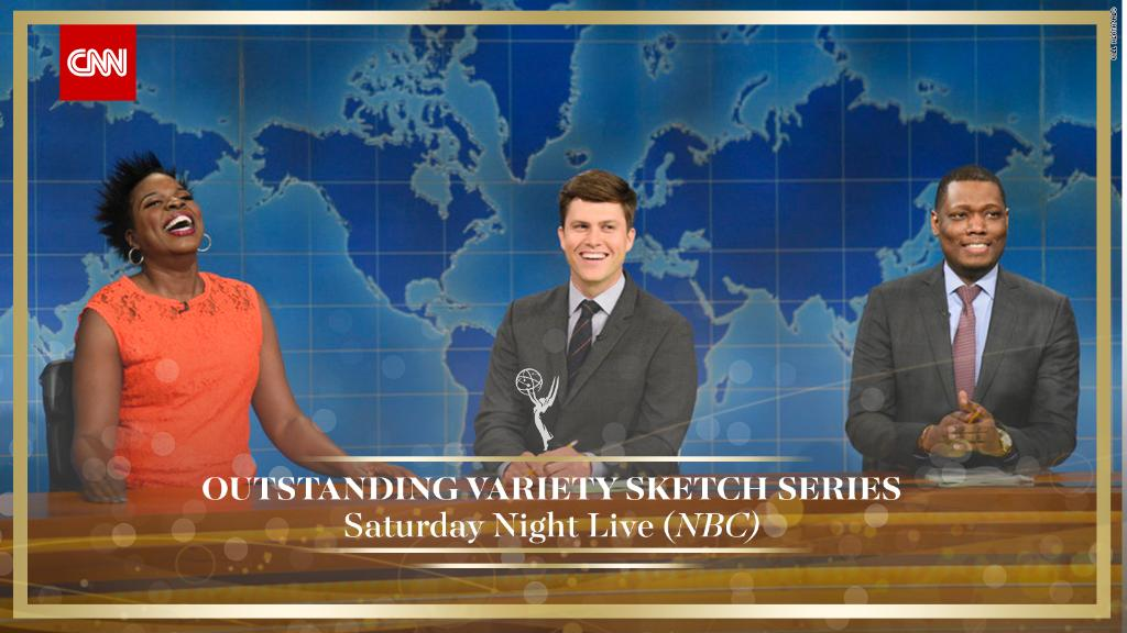 .@nbcsnl wins Outstanding Variety Sketch Series. #SNL #Emmys https://t.co/Ie58GHxbKP https://t.co/e1LZYV8A6t