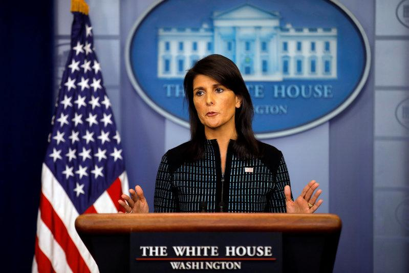 U.S. Ambassador Haley: U.N. has exhausted options on North Korea