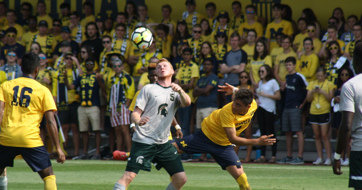 In first meeting as ranked rivals, MSU men's soccer tops U-M, 1-0 in OT