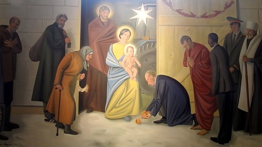 'All will come before Christ': Putin & Obama depicted in 'modern' Belarusian fresco
