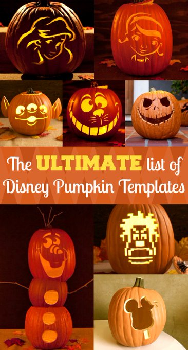 Free Disney Pumpkin Carving Templates for Halloween  Disney Marvel Freebie Printable
