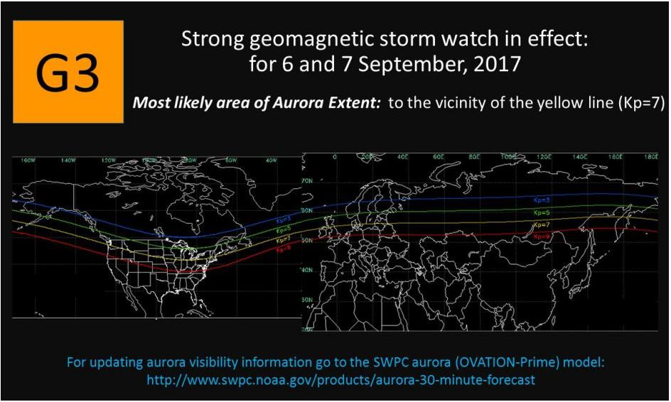See the yellow line? If you live above it you could see the #Aurora tonight #northernlights  https://t.co/WIlDS9cCs8 https://t.co/dLR3xemO3I