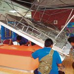 Collapsed ceiling at Mahmoodiah Health Clinic scares patients