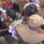 SEE PICS: Chennai cops evict students protesting NEET girl Anitha's suicide at Jayalalithaa's memorial