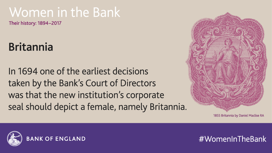 Britannia has appeared on Bank of England banknotes since 1694. https://t.co/pARRrK6s1l #WomenInTheBank https://t.co/r2dbusZ2XE