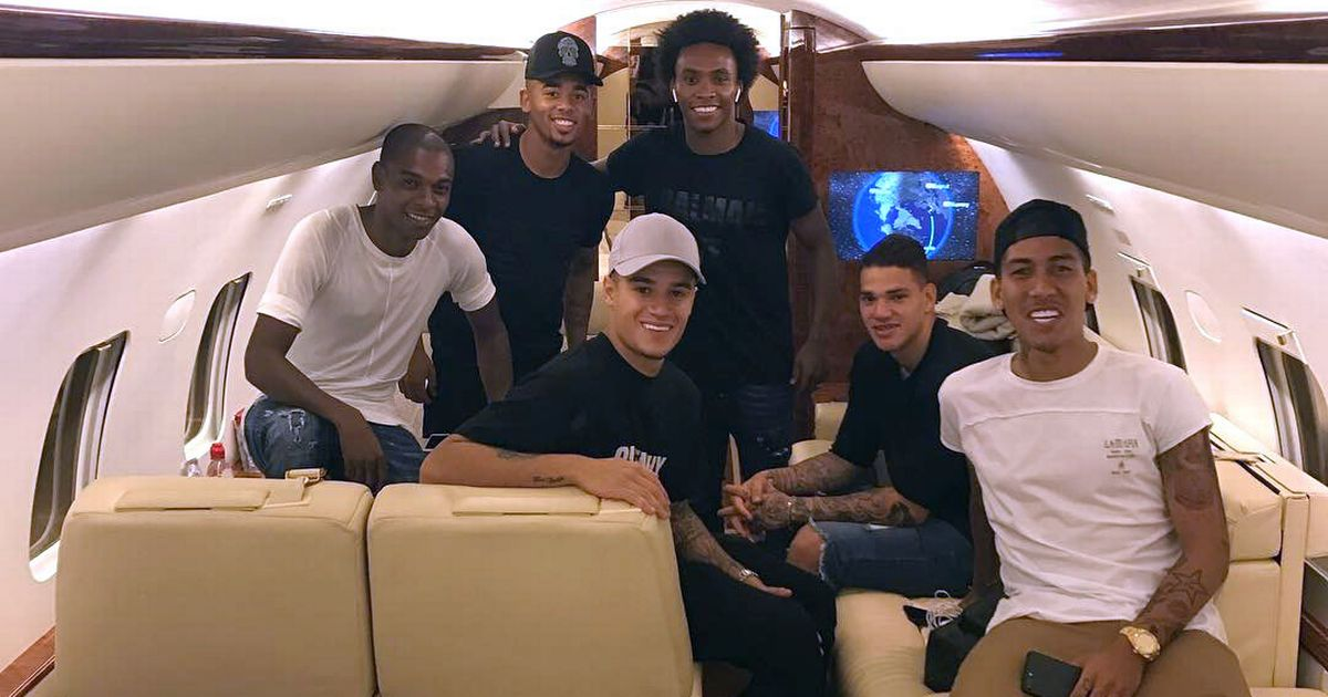 Philippe Coutinho and Gabriel Jesus among Brazil stars flown back on private jet ahead of Liverpool vs Man City clash