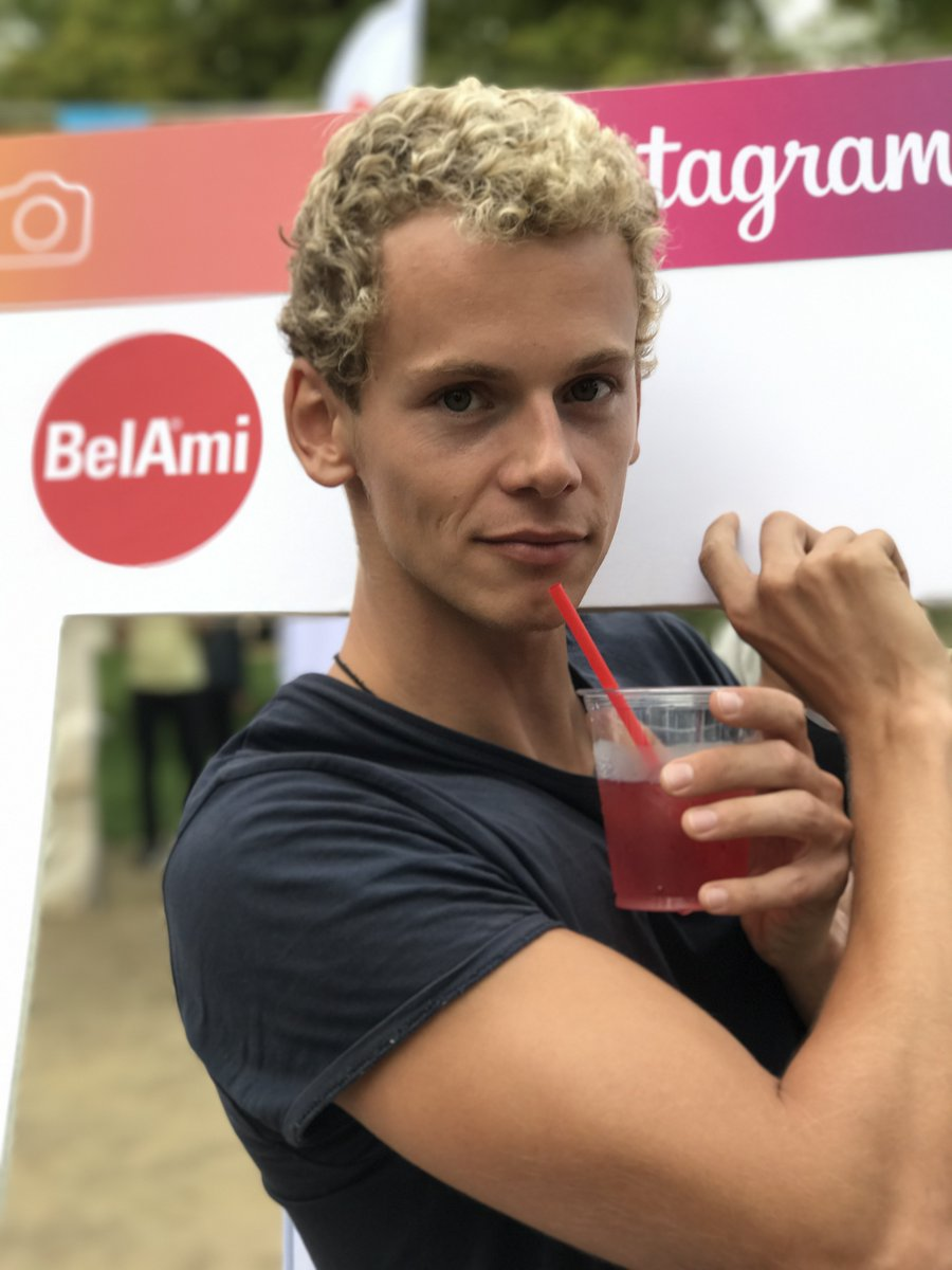 Jerome promoted our BelAmiPics #instagram during Prague pride. Isn't he adorable? ZD5BB