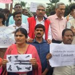 Hyderabad journalists, activists protest Gauri Lankesh's murder
