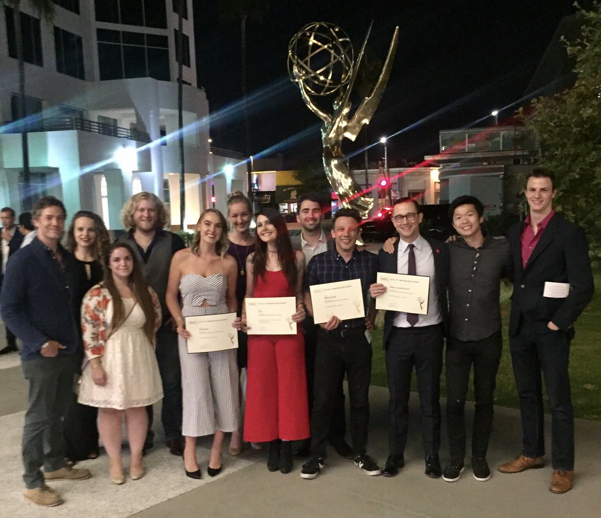 'Twas a lovely evening w/ the @hitRECord team celebrating our Emmy nomination. @tvacadimpg https://t.co/pEswdHX3C1