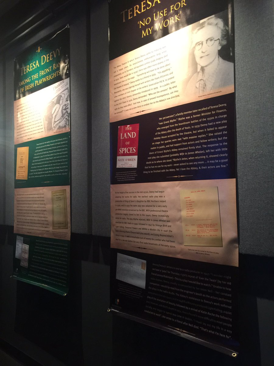 test Twitter Media - Great lobby display about a Teresa Deevy at @MintTheaterCo https://t.co/WjoJC5n06Q