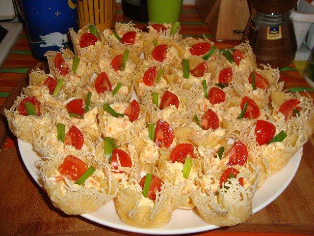 Корзиночки с салатом рецепты
