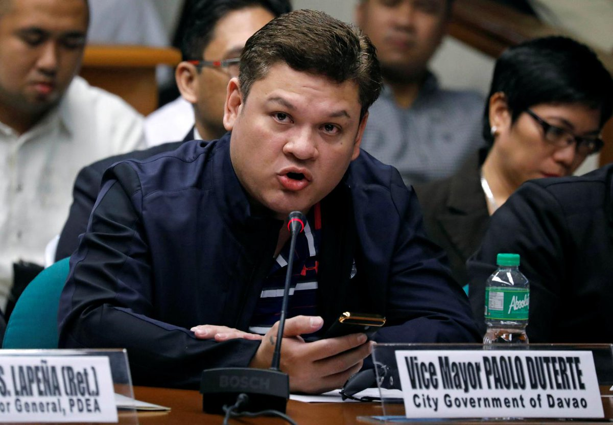 Philippine president's son has denied links to the drugs trade his father vowed to fight