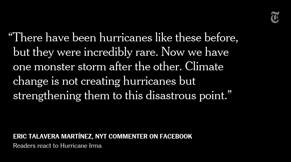 One NYT reader's reaction to Hurricane Irma https://t.co/qS4RfZeBlI https://t.co/HFlgQcaSTD