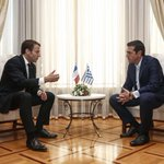 Macron, in Greece, pushes vision of deeper euro zone integration