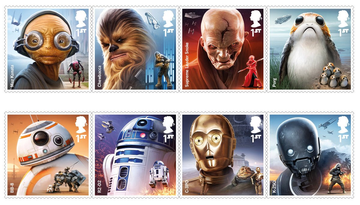 Use the Post, Luke! 'Star Wars: The Last Jedi' Stamps Hit UK