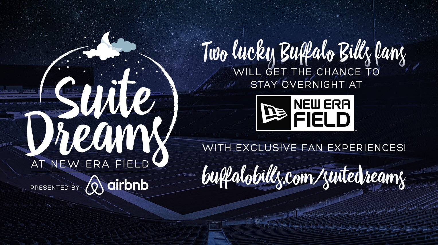 Here's your chance to be the first fan to spend the night at @newerafield!  Suite Dreams: https://t.co/5ncpUp8J3f https://t.co/mGBoRaRi7T
