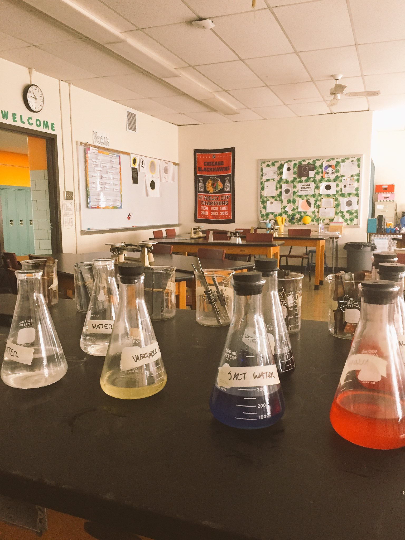 Density labs continue in 8th grade science #wgbuzz https://t.co/iohZ3JBqEO