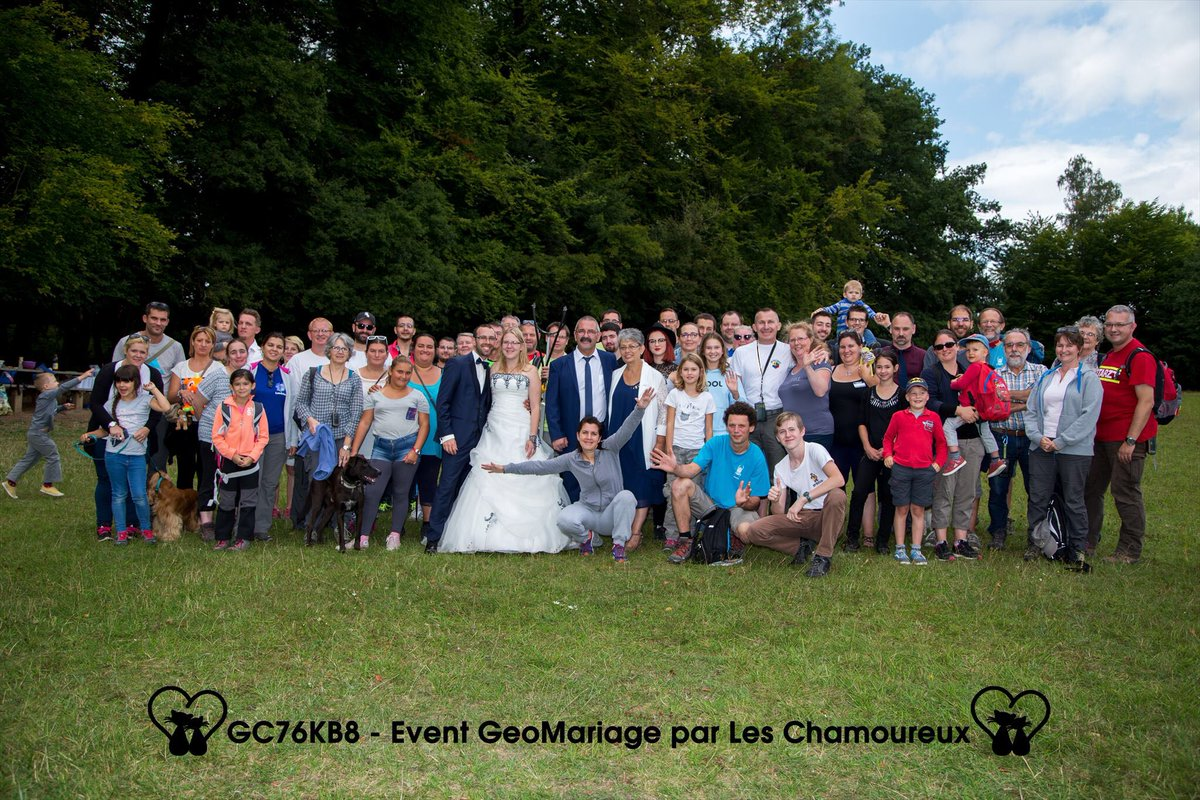 Beaucoup de monde à notre event GeoMariage @GoGeocaching #geocaching #event #geomariage #geocache  | tweeted by @PetitChat60_