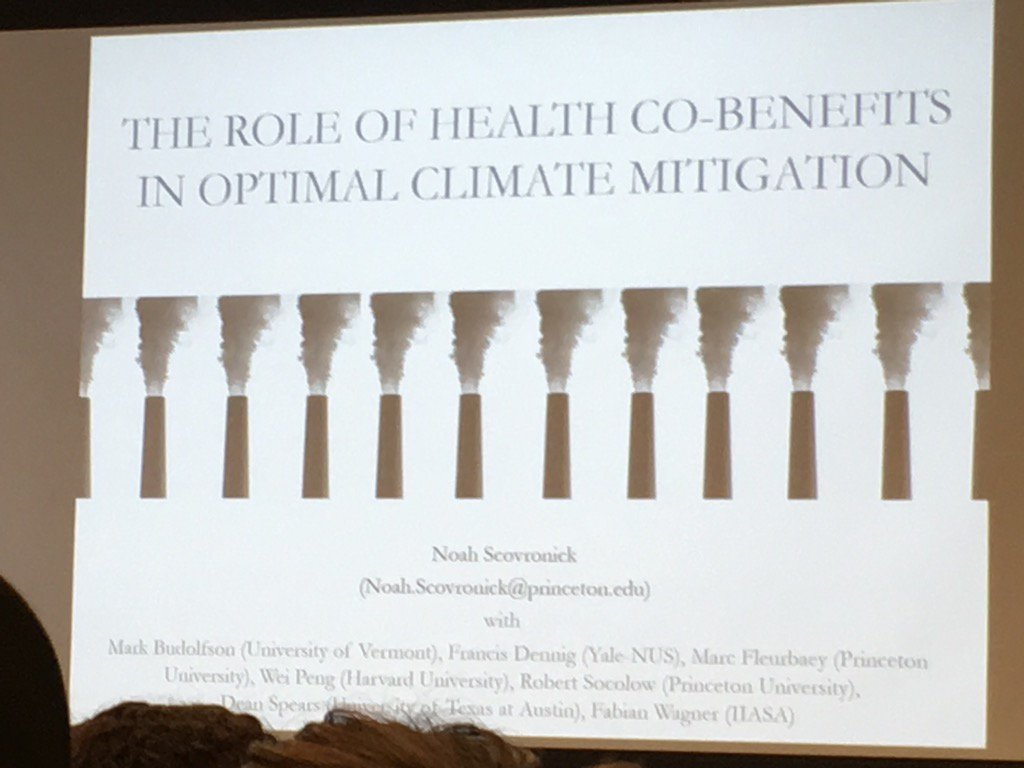 test Twitter Media - Happening now @EmoryRollins: Noah Scovronick on The Role of Health Co-Benefits in Optimal Climate Mitigation https://t.co/eYMVSFUoN3