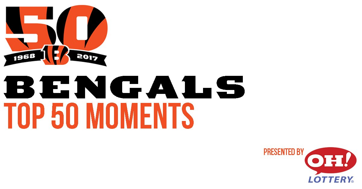 Here is today's #Bengals Top 50 Moment pres. by @OHLottery! #TBT   ��: https://t.co/6DVQi3Ui1s https://t.co/PgwIVnkDo6