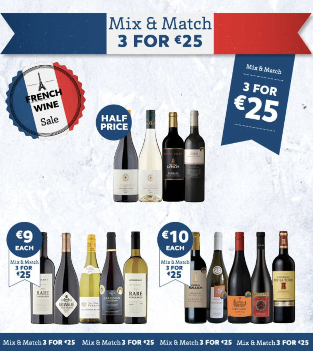 It is back! Our Famous French wine Sale.... Time to restock those shelves with amazing value! https://t.co/JB2p9WXvph