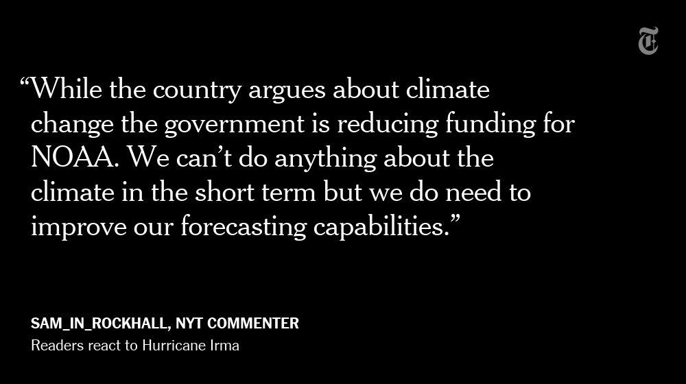 One NYT reader's reaction to Hurricane Irma https://t.co/yuoR7V5KGe https://t.co/9J1OpwUCJR