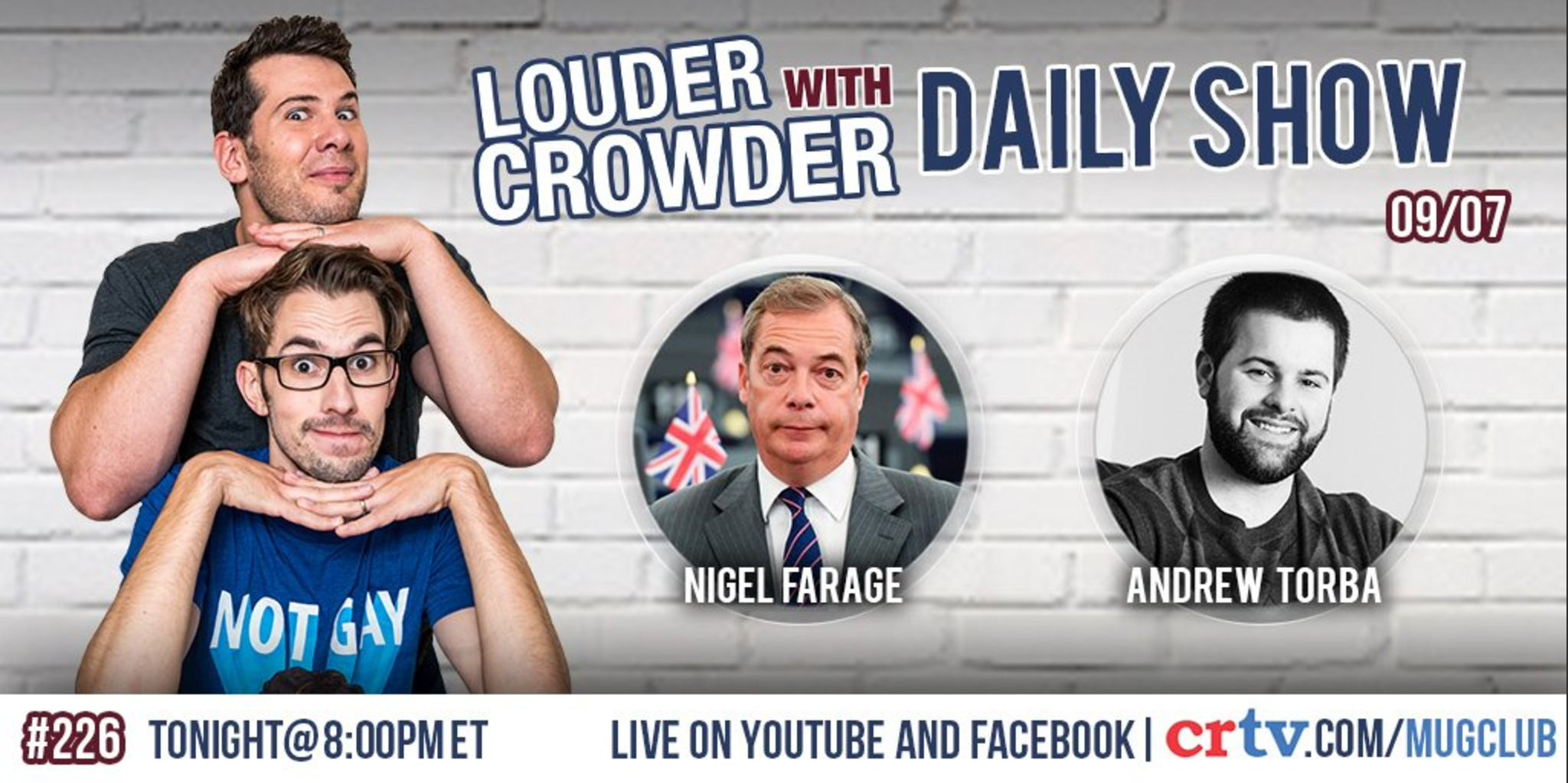 Catch me speaking to @scrowder on #LwC tonight. He's a top man. https://t.co/Ok2KFa3uNz