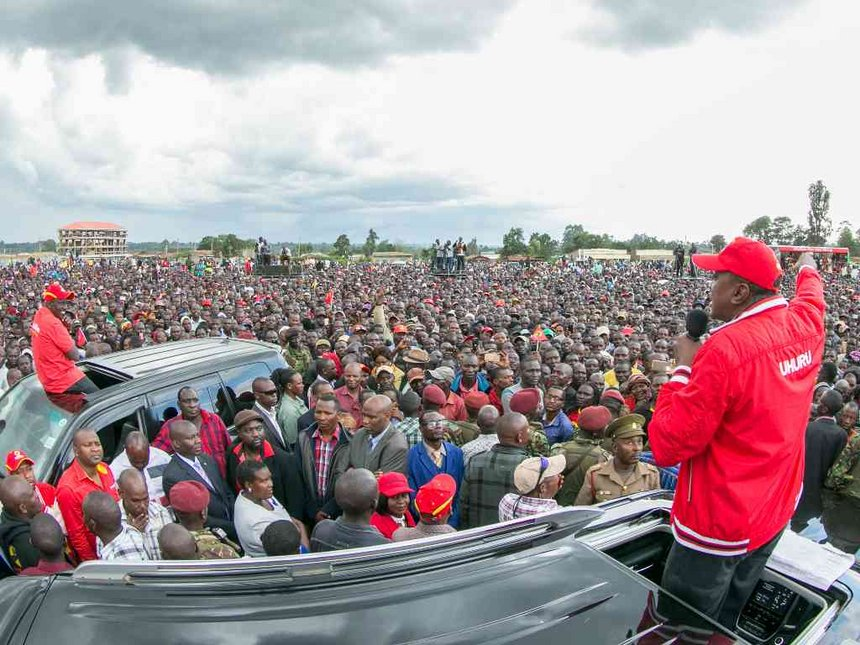 Uhuru thanks Bungoma for votes, says county not Raila stronghold