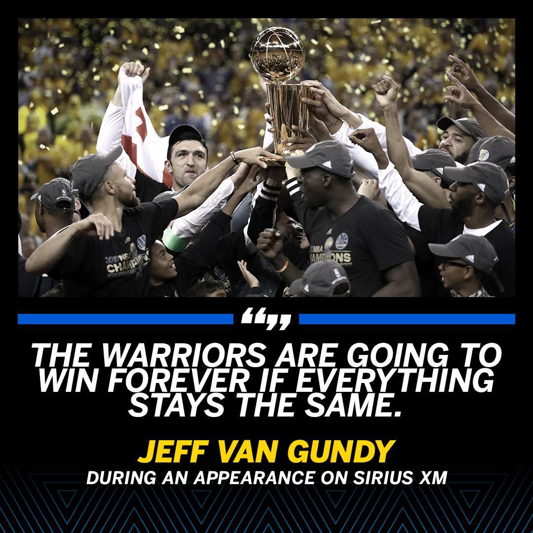 Jeff Van Gundy already thinks the 2017-18 NBA season is a wrap. https://t.co/1dpYCgeyhB