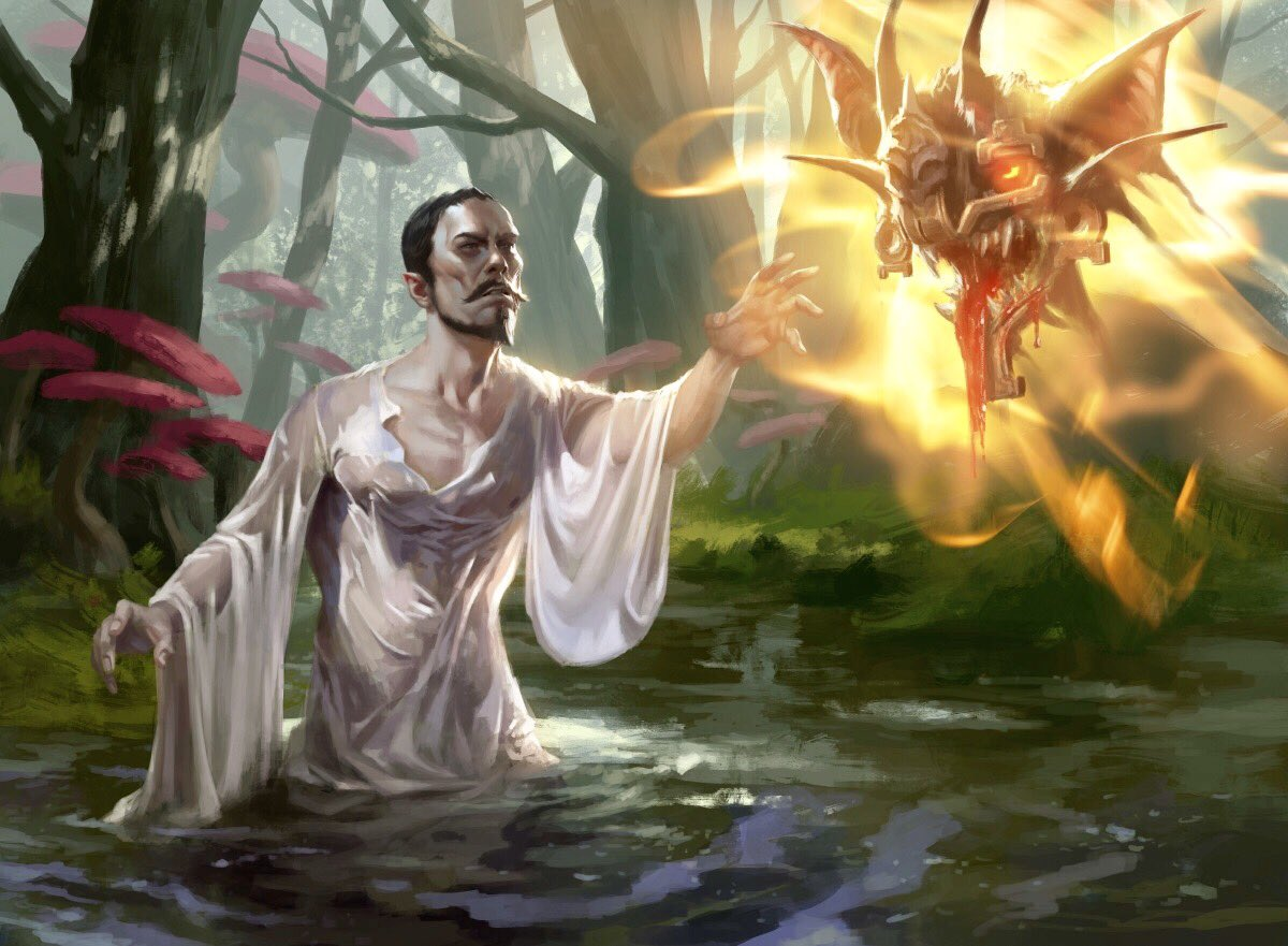 test Twitter Media - Arguel's Blood Fast from Ixalan. AD - @SheppardArts #mtg #mtgxln https://t.co/L6OkvzaWxq