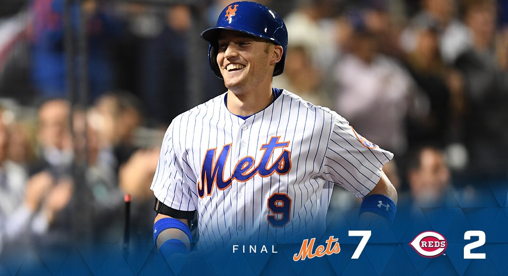 We take the series opener against Cincinnati! #MetsWin  Box: https://t.co/0oRL3wyYgS https://t.co/BzoDbz2Y0B