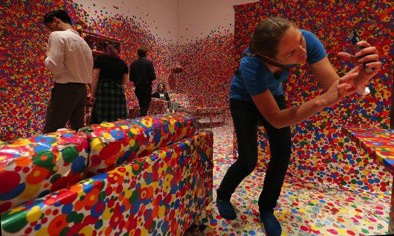 Big Yayoi Kusama show at Seattle Art Museum winding down