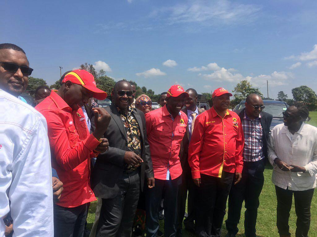 NASA co-principal Isaac Ruto joins President Uhuru, Ruto ahead of Kapkatet rally