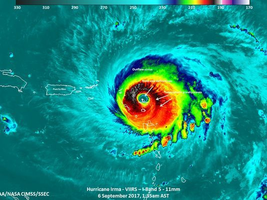 What's next for HurricaneIrma now that it's weakened a bit: (Photo: @NASA)