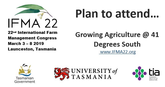 Plan to attend #IFMA22 Int'l Farm Mgmt Congress...