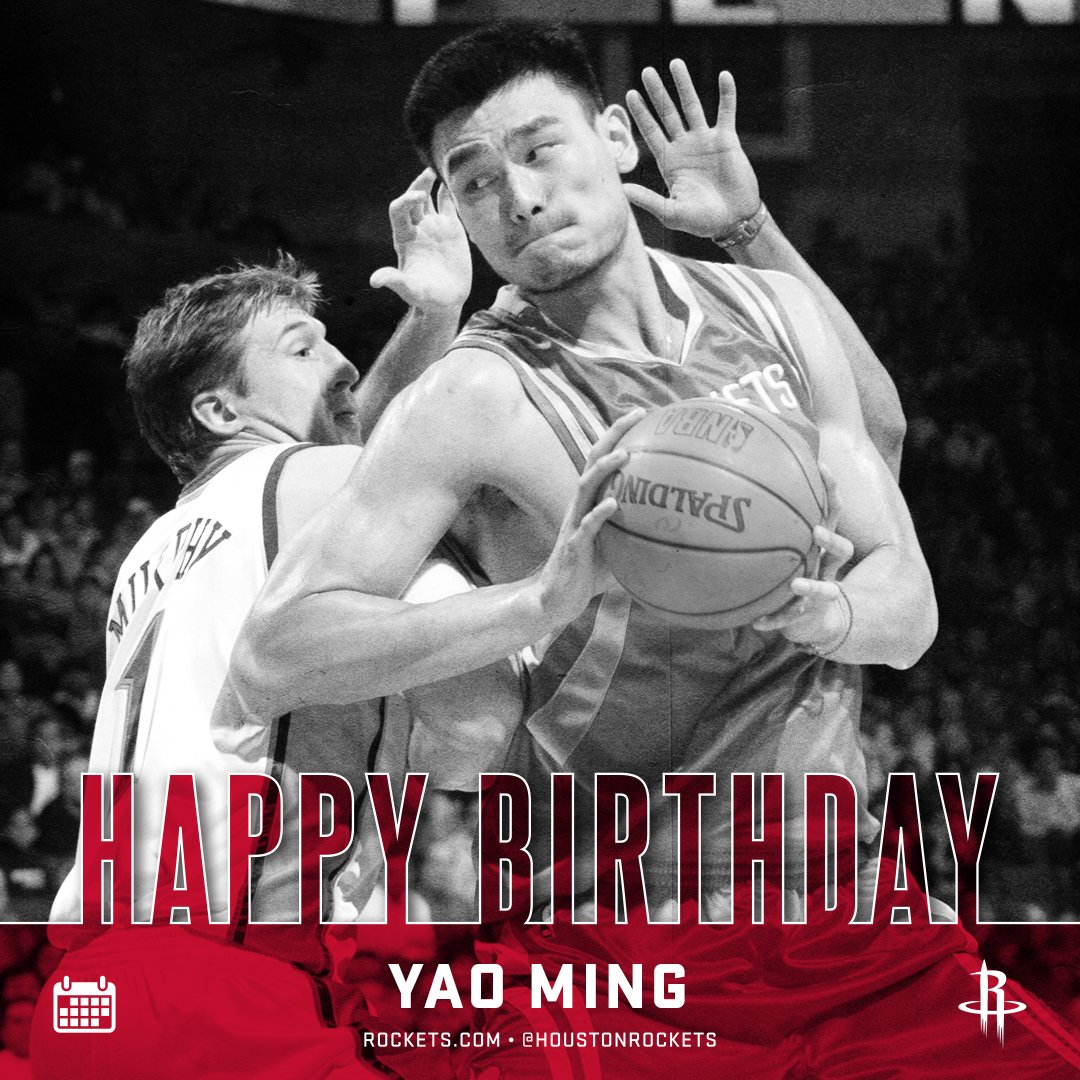 RT to wish a Happy Birthday to Hall-of-Famer @YaoMing! �� �� https://t.co/cSx4ZxsmCp