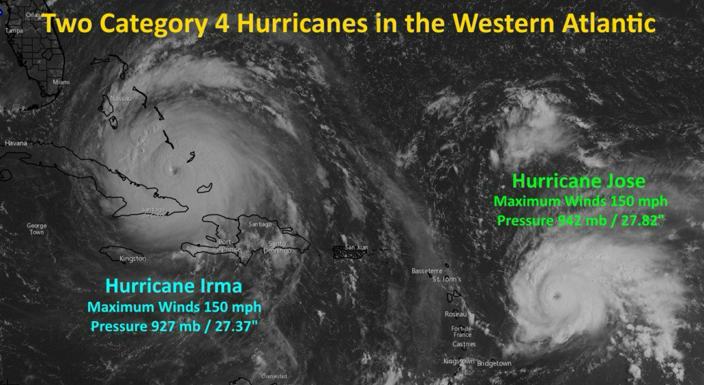 Hurricane Jose strengthens to a Category 4 storm, heading for Irma impacted islands