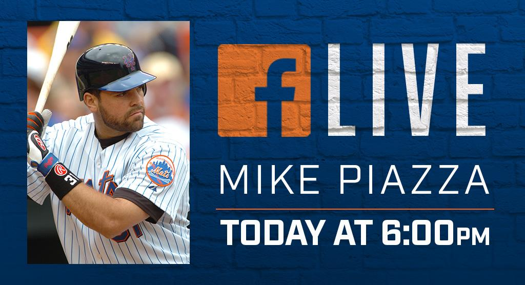 The #HallOfFamer is in the house! @mikepiazza31 will be live on FB at 6 p.m. Submit your questions using #AskPiazza. https://t.co/qqM2vR2lPR