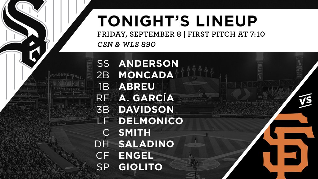 Tonight's #SoxGameDay starters: https://t.co/bExu1T5isz