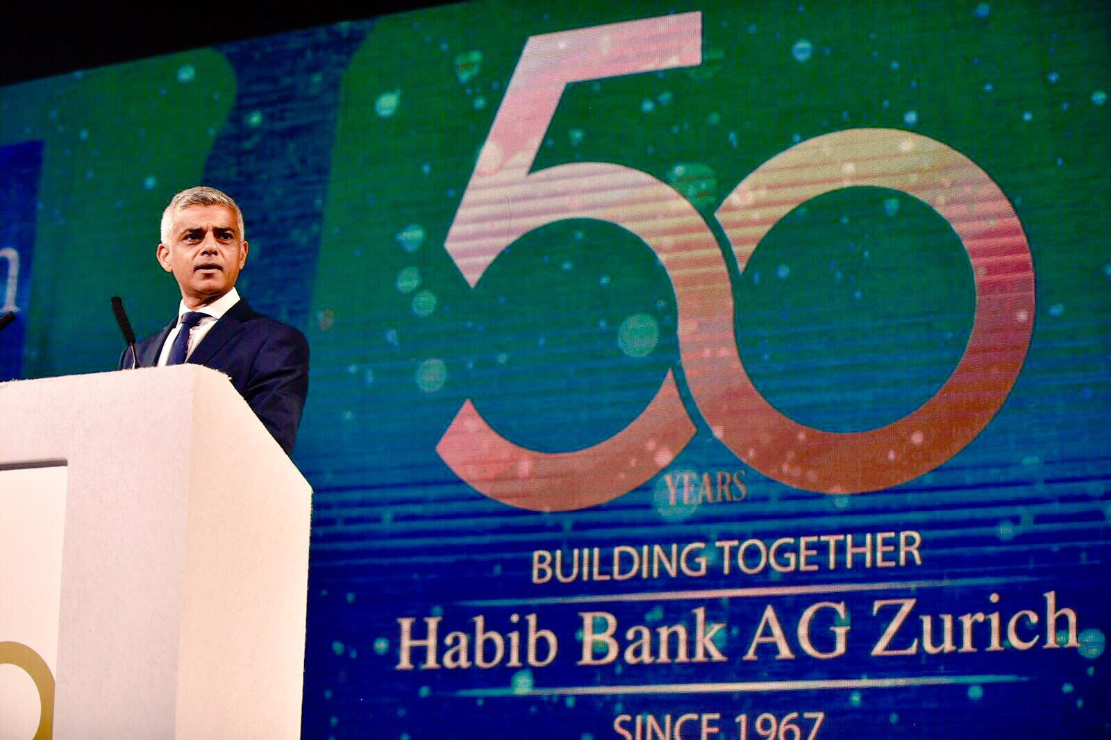 Delighted to speak at Habib Bank AG Zurich tonight and celebrate their 50 years of banking https://t.co/lTQFf6hmCZ