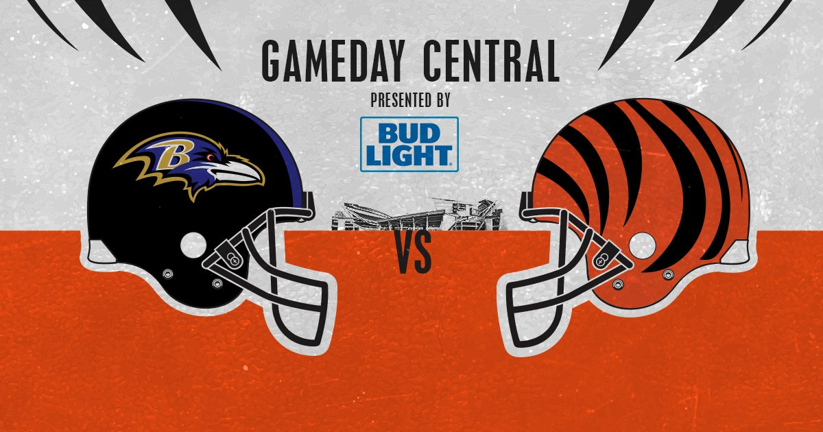 Don't miss any of the action! #BALvsCIN  TV ��: CBS  https://t.co/KpeqK4RKUm Game Day ��: https://t.co/Zh2Cy2u9Ep https://t.co/MnyE3VkCFy