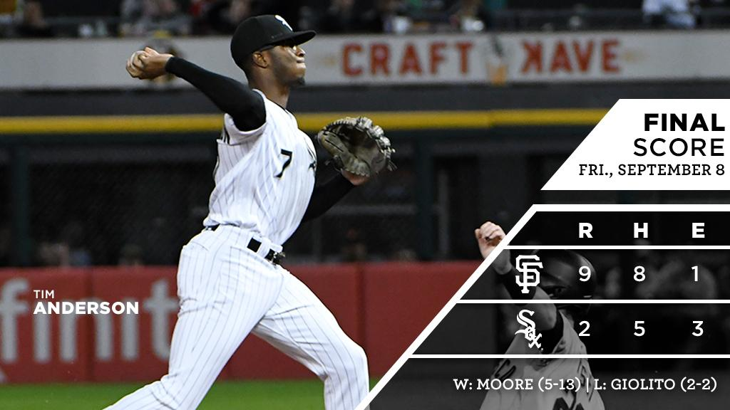 #WhiteSox open weekend series with #Giants.  RECAP: https://t.co/Lczz129cqp https://t.co/AYmkQ48HzF