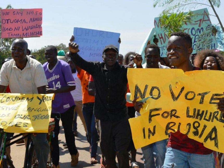 No votes until you apologise to our son Smokin Wanjala, Busia residents tell Uhuru